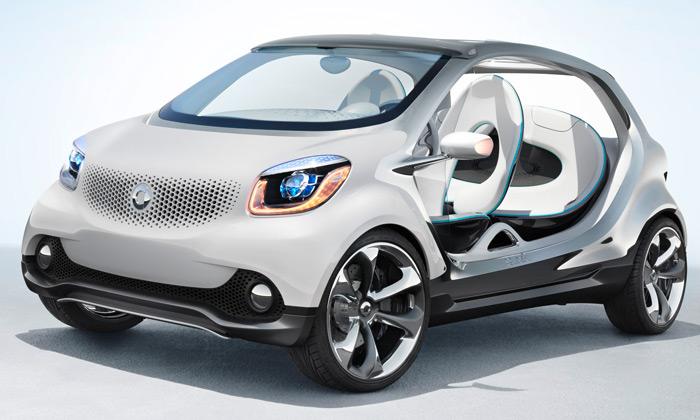 Smart ukázal futuristický koncept Fourjoy bez dveří