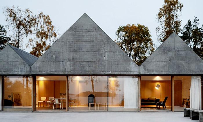 Na ostrově Lagnö vyrostl minimalistický letní dům
