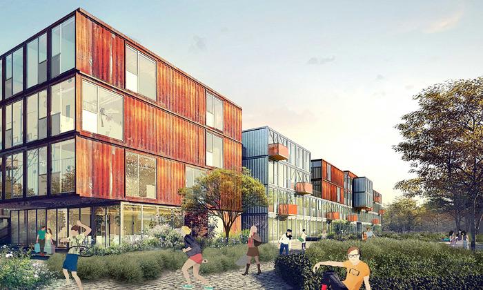 Berlín postaví kontejnerové městečko pro studenty