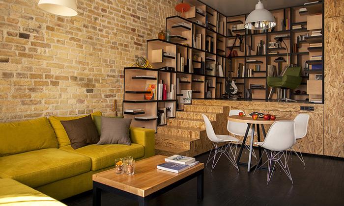 Alex Bykov útulně zrekonstruoval starý byt vKyjevě