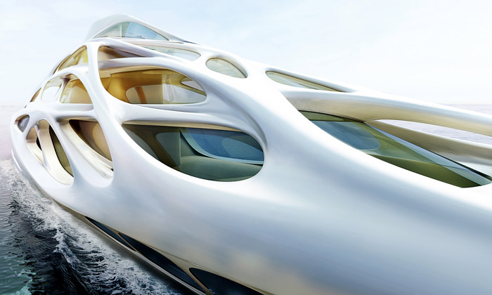 Zaha Hadid a její Unique Circle Yachts pro Blohm+Voss