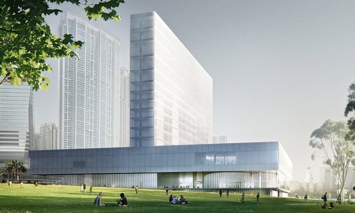 Hongkong staví muzeum M+ vetvaru znaménka plus