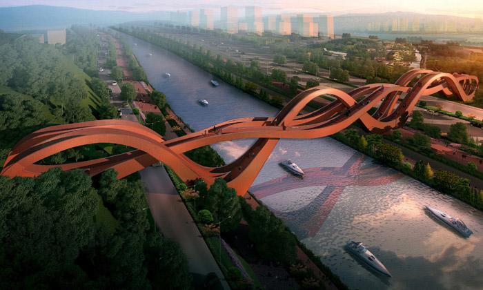 Next Architects postaví vČíně vlnitý most pro pěší