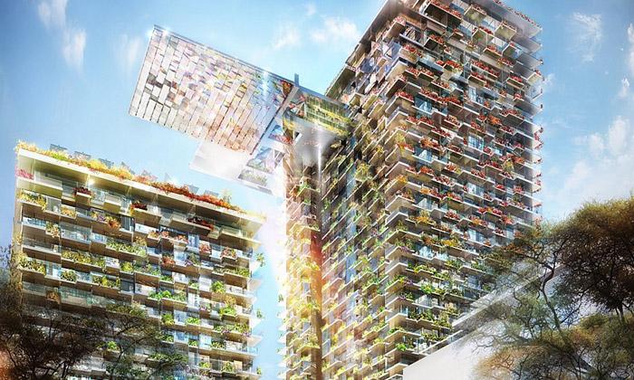 Nouvel staví vSydney bytový dům pokrytý zahradou