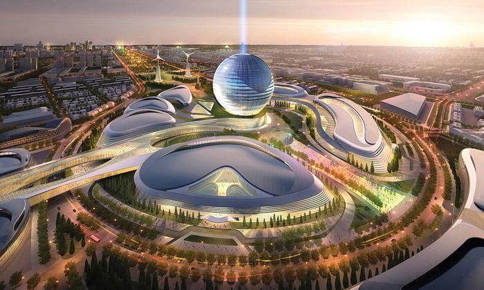 Kazachstán staví ekologické výstaviště naExpo 2017