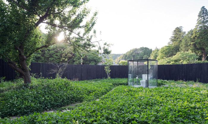Sou Fujimoto postavil prosklenou toaletu vzahradě