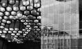 Výstava Karetl Prager: Federální shromáždění - malý sál 2 a detail terčové fasády