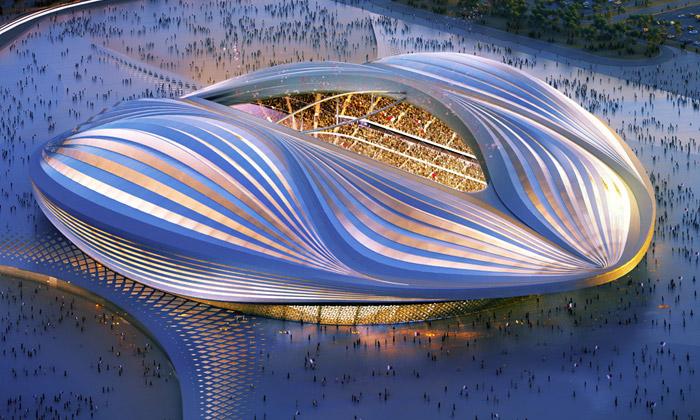 Zaha Hadid představila fotbalový stadion pro Katar