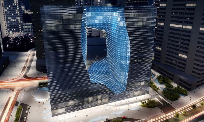 Zaha Hadid postaví hotel Opus Dubai sobří trhlinou