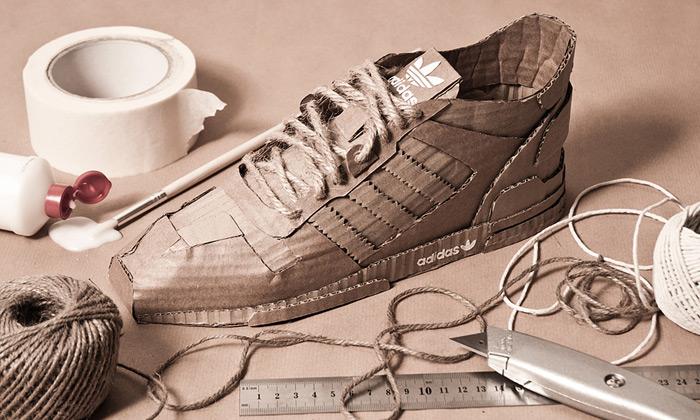 Chris Anderson vytvořil zpapíru tenisky Adidas