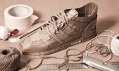 Chris Anderson a jeho tenisky Adidas Originals vytvořené ručně z kartonového papíru