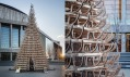 Vánoční stromek v Budapešti ze 365 sáněk od Hello Woodˇ