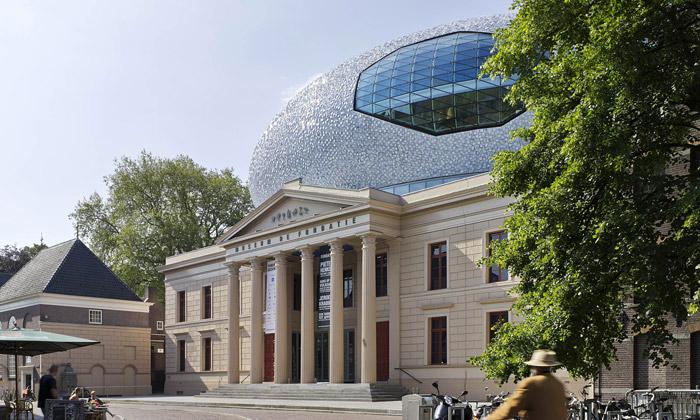 Muzeum veZwolle má nástavbu tvaru obřího vejce
