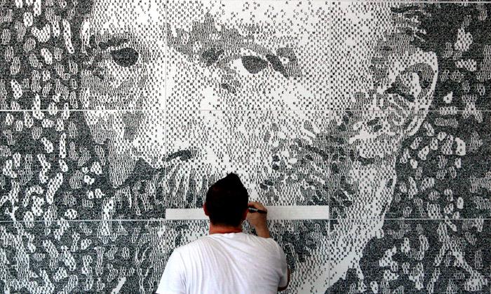 Američan maluje fenomenální portréty zčíslic islov