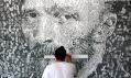 Americký umělec Phil Hansen aukázka průřezu jeho tvorby
