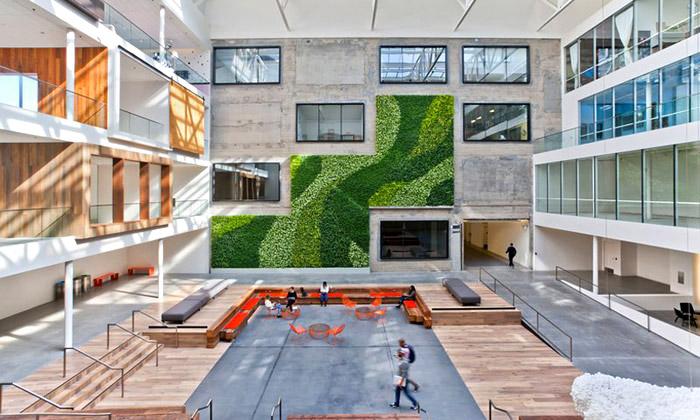 Airbnb má nové kanceláře vbývalé průmyslové hale