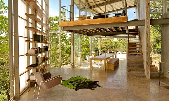 Casa Tuscania jehřejivé bydlení uprostřed pralesa
