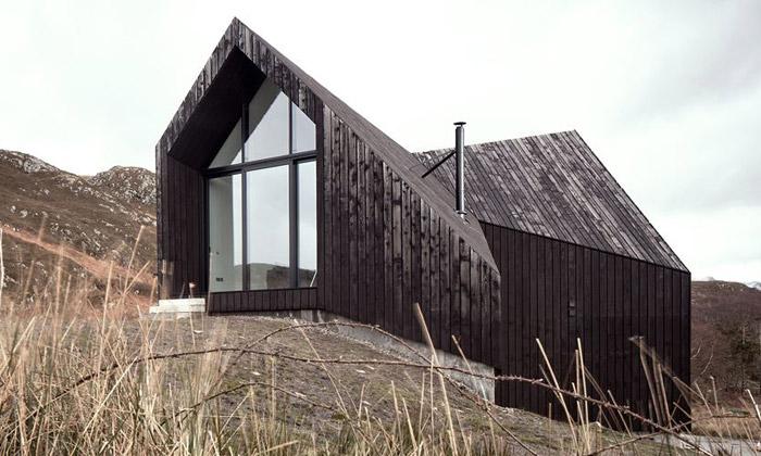 Skotský dům byl inspirován tradiční architekturou