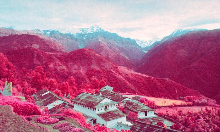 Američan vytvořil infračervené fotografie Nepálu