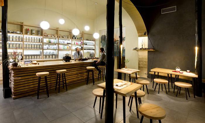 A1 Architects navrhli obchod sčajem Tea Mountain