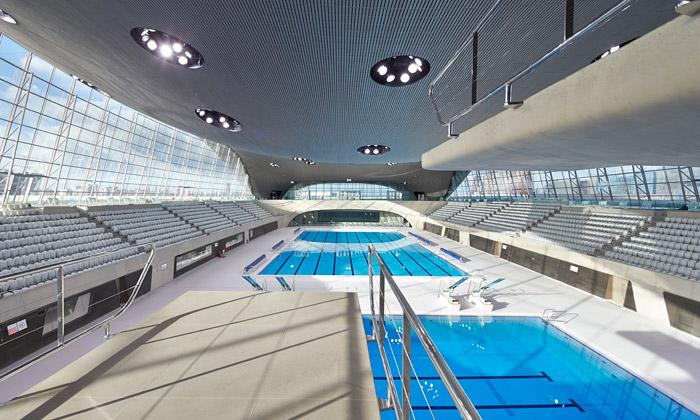 Londýn otevřel plavecký areál odHadid veřejnosti
