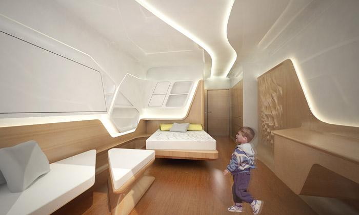 Zaha Hadid navrhla apartmány vdětské nemocnici