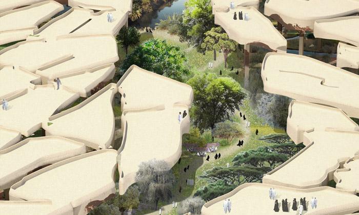 V Abu Dhabi vyroste zelená oáza skrytá vpodzemí