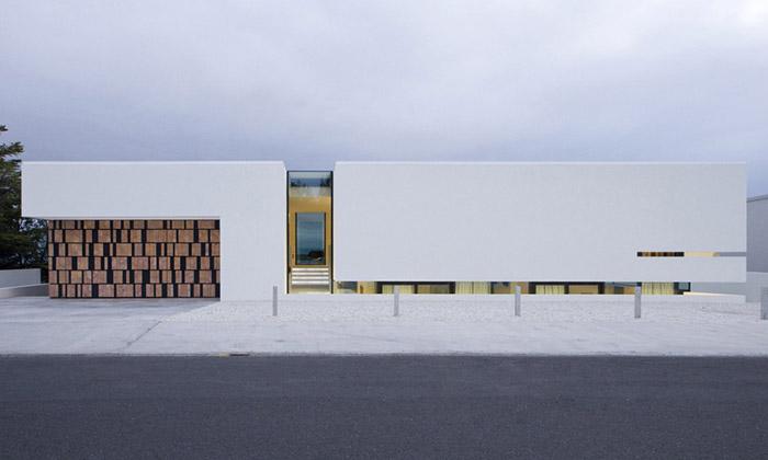B25 House vReykjavíku má vchod jako dosopky