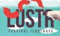 Vizuál prvního festivalu ilustrace LUSTR