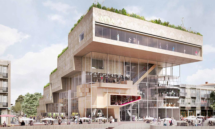 NL Architects navrhli Art Cluster Arnhemu zkaskád