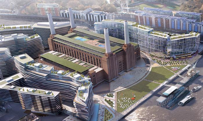 Foster aGehry navrhují dostavbu slavné Battersea