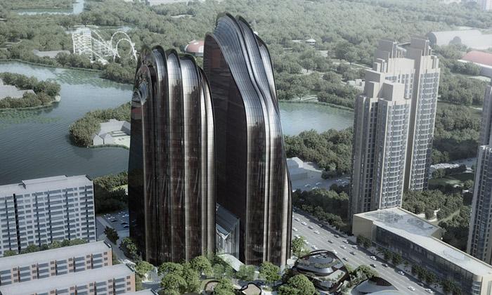 MAD staví vPekingu obytné věže připomínající hory