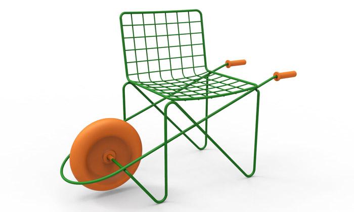 Magis uvedl židli spojenou skolečkem inové hračky
