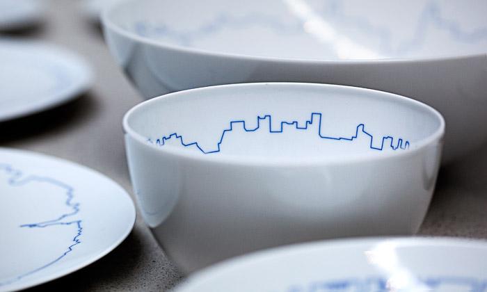 BIG aKilo ozdobili porcelán odGropiuse obrysy měst