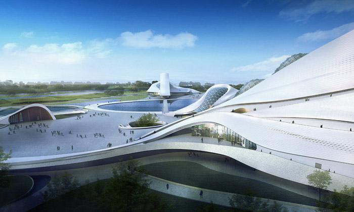 MAD staví vlnité kulturní centrum naostrově Harbin
