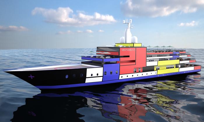 Rus navrhl jachty jako Mondrianův obraz nebo labuť