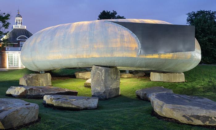 Otevřen pavilon Serpentine Gallery stvarem fazole