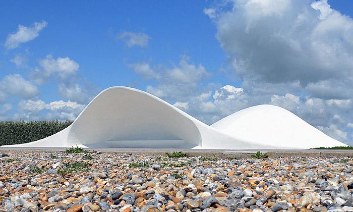 Acoustic Shells jsou organické akustické přístřešky