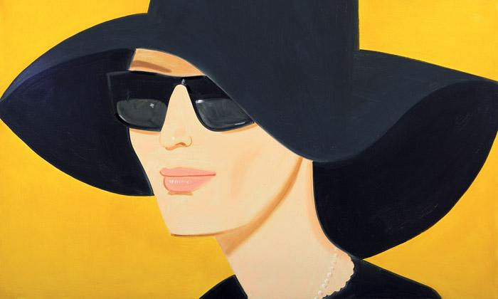 Alex Katz vystavuje veVídni portrétní malby iskicy