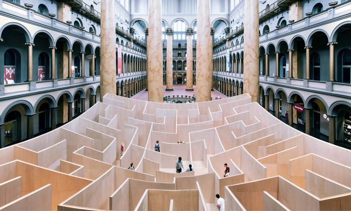 BIG vytvořili vamerickém muzeu klesající bludiště