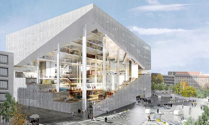 OMA postaví centrálu Axel Springer vBerlíně sdírou