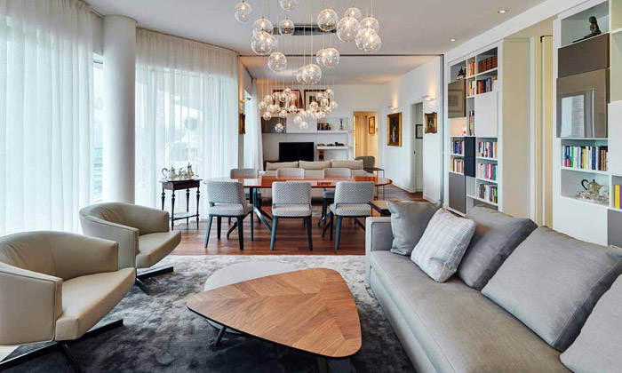 Marco Piva navrhl útulný byt vCityLife odHadid