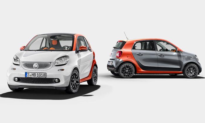 Smart inovoval design dvou vozů ForTwo aForFour