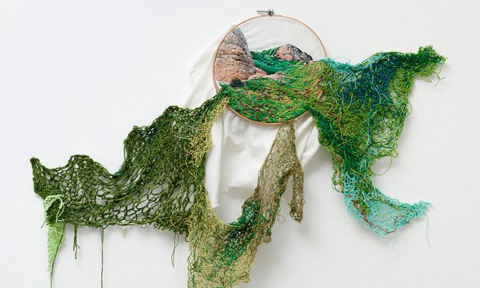 Ana Teresa Barboza tvoří obrazy pomocí vyšívání