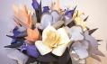 Čelenky a instalace z papíru od Lacy Barry