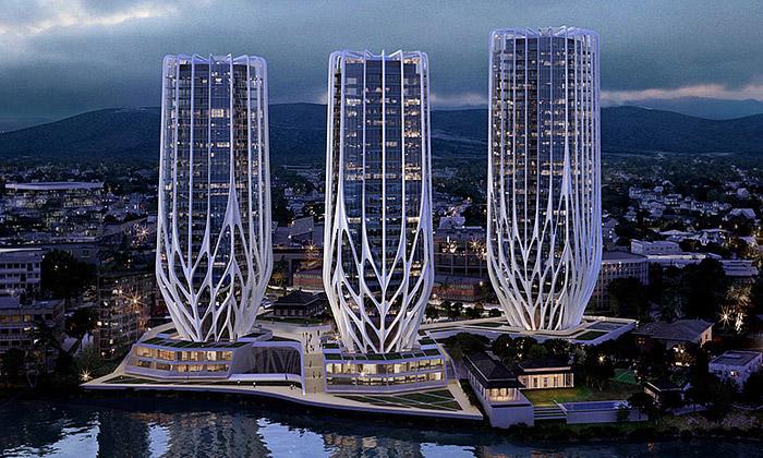 Hadid navrhla pro Brisbane obytné věže jako květy