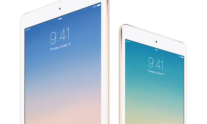 Apple uvádí nové tablety iPad Air 2 a iPad mini 3