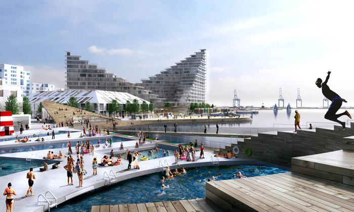 BIG postaví veměstě Aarhus rekreační nábřeží