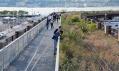 Třetí část nadzemky přestavěné na park High Line označován jako Rail Yards