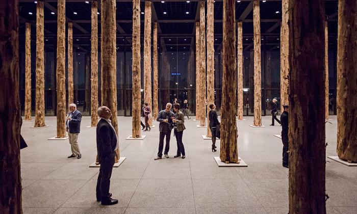 Miesovou galerií vBerlíně prorostly vzrostlé kmeny